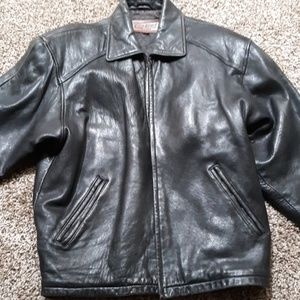 Couture leather jacket by j park